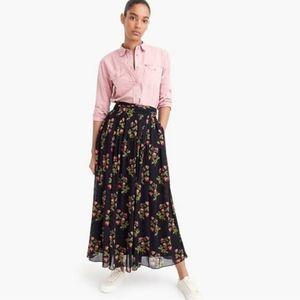 NWT POINT SUR J. CREW Floral Chiffon Maxi Skirt 00